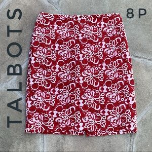 Talbots Embroidered Eyelet Pencil Skirt